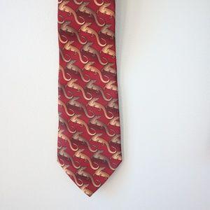 Mark Jason Komodo Dragon Art Tie